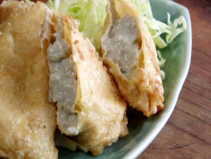 ピータン豆腐の湯葉揚げ04