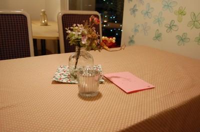 テーブルセッティング。