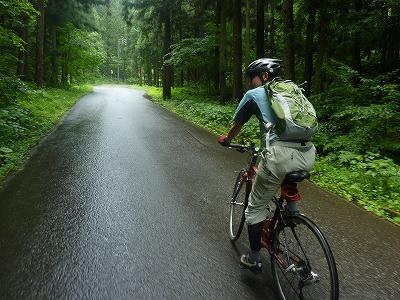 雨上がりのサイクリング
