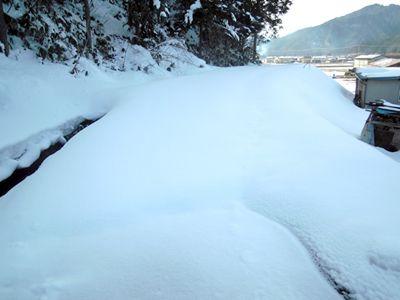 コースはまだ雪の下