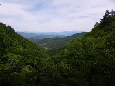北アルプスの眺め@四十八滝
