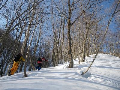 雪上ハイキング