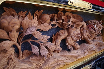 高山祭 屋台の彫刻