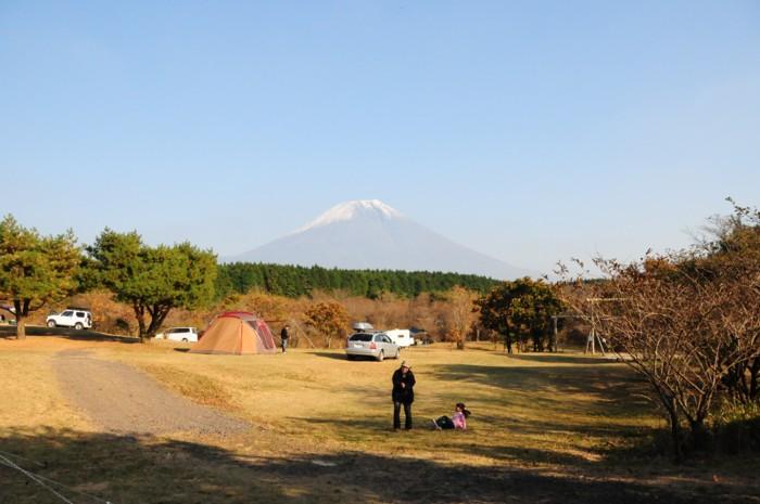 富士山が良く見えるキャンプサイト。