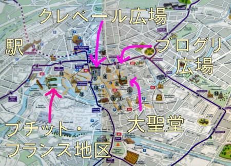 ストラスブールの地図