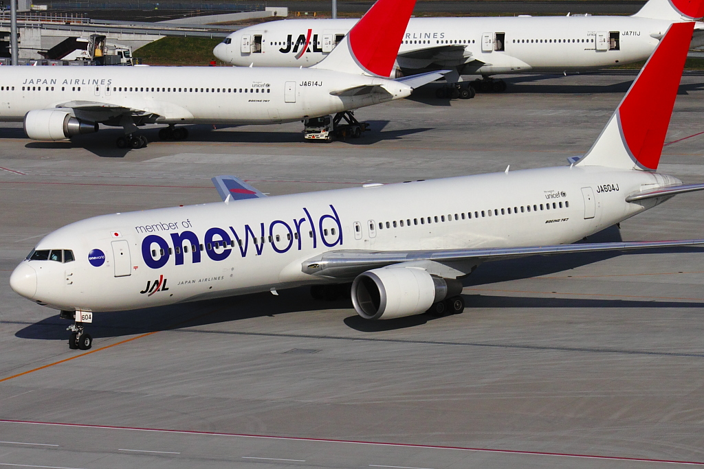 member of oneworld Boeing767-346ER JA604J