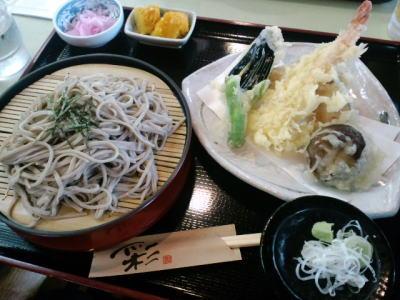 竜神峡_大吊り橋_食事_そば_天ぷら_蕎麦