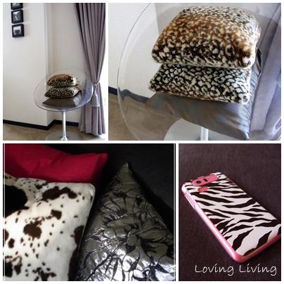 アニマル柄 レオパード(ヒョウ柄) ゼブラ カーフ柄(ウシ柄) Animal pattern   Leopard spots   Zebra design   Calfskin design