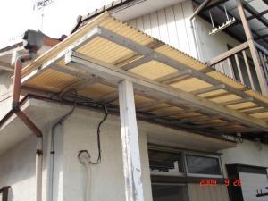 テラス屋根交換取付前