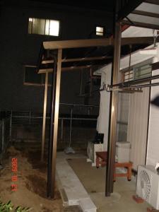 テラス屋根交換取付後2