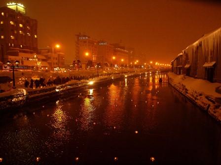 22 小樽運河夜景 P2106723