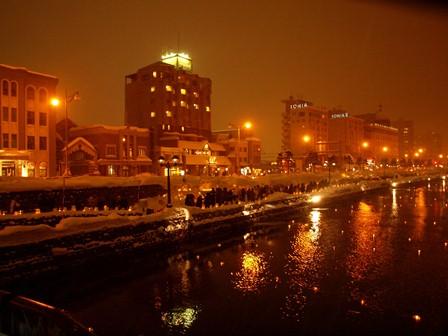 23 小樽運河夜景 P2106718