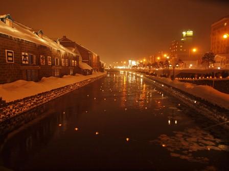 24 小樽運河夜景 P2106758