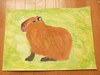 いしかわ動物園の動物たちの絵 娘の作品