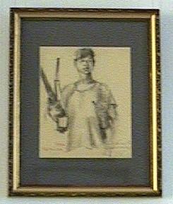 兵士の素描
