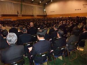 日川高校卒業式
