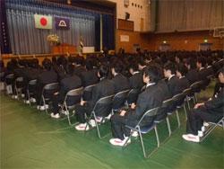 日川高校卒業式2