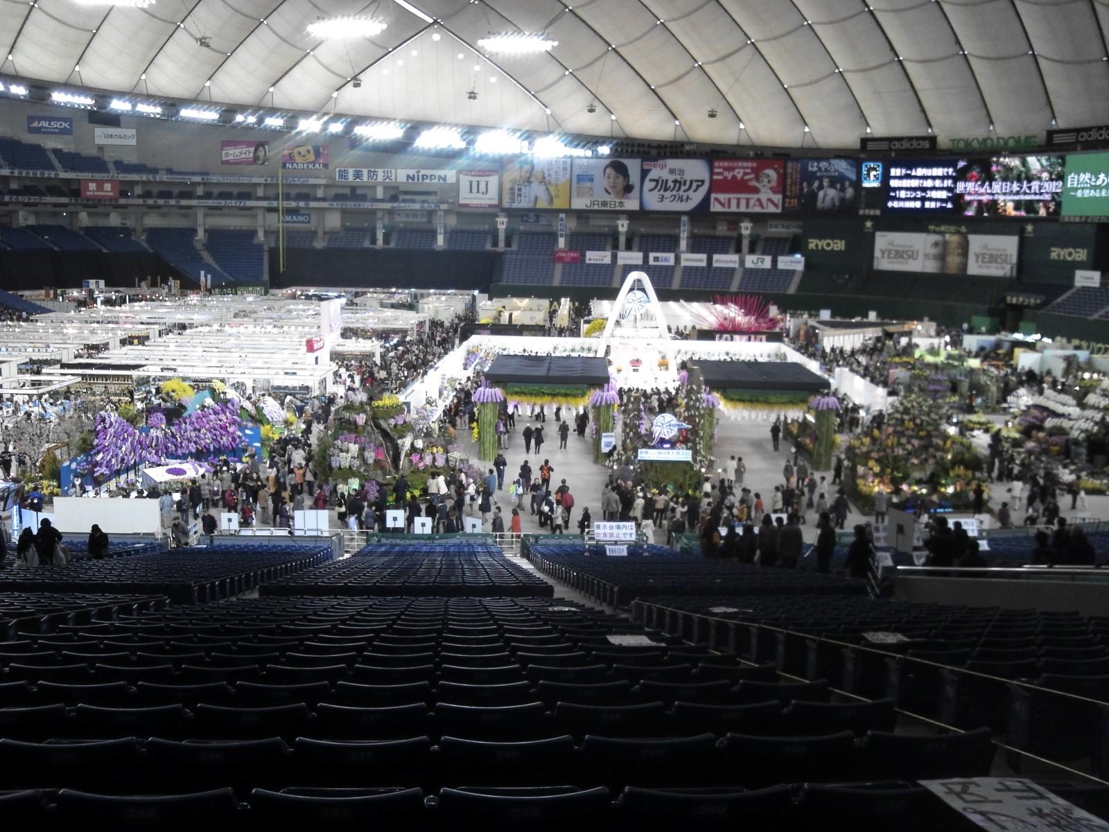 世界のらん展2012会場の様子