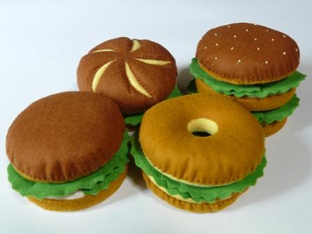 ハンバーガーセット バンズ 4種類