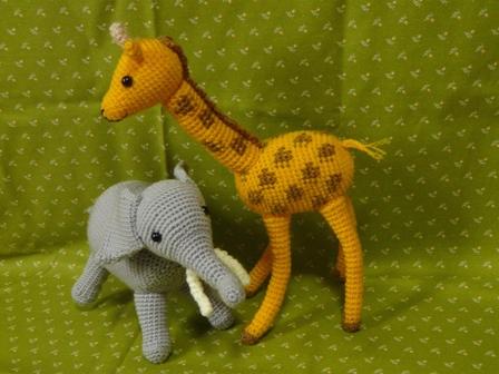 あみぐるみ ゾウ&キリン