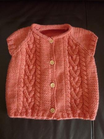 編み物 半袖カーディガン 1