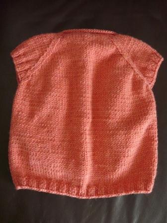 編み物 半袖カーディガン 3