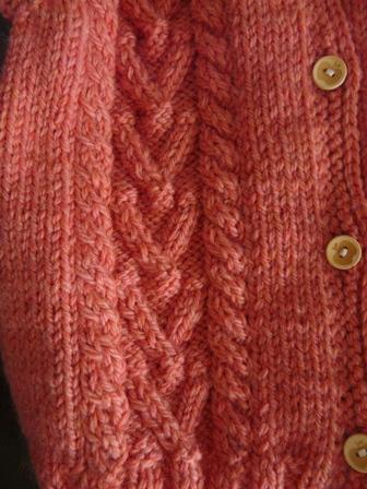 編み物 半袖カーディガン 2