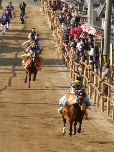 菊間祭り お供馬の走り込み 2