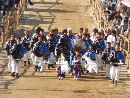菊間祭り 獅子舞 1