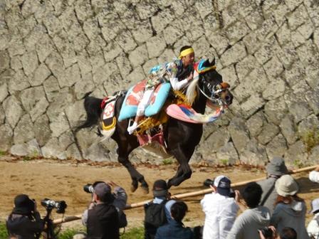 菊間祭り お供馬の走り込み 5