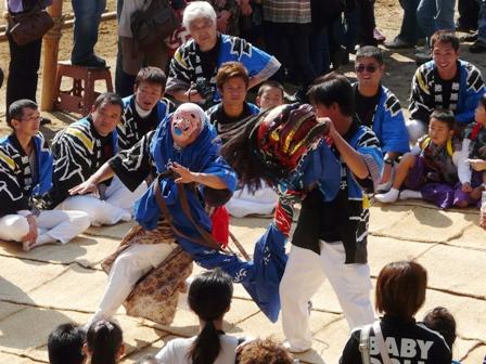 菊間祭り 獅子舞 7