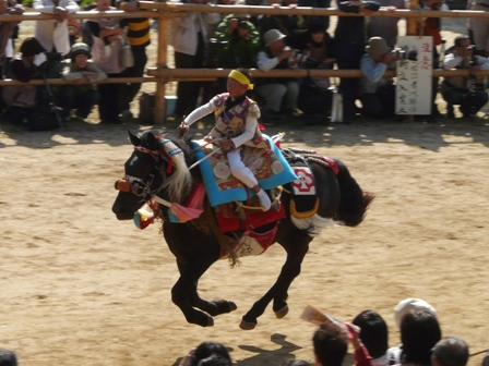 菊間祭り お供馬の走り込み 6
