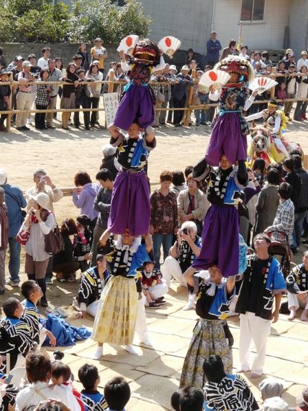 菊間祭り 獅子舞 13