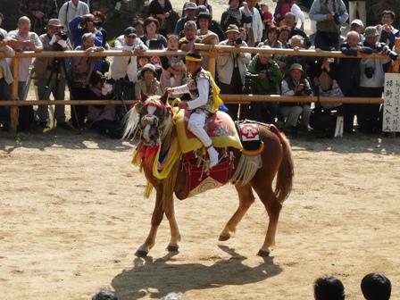 菊間祭り お供馬の走り込み 7