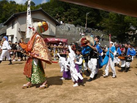菊間祭り お旅所行列 1