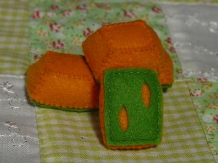 フェルト手芸 おかず亭 〈和風〉 かぼちゃ
