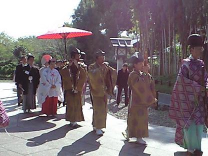 櫻木神社 結婚式行列