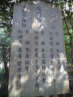 櫻木神社 摂社 由来●