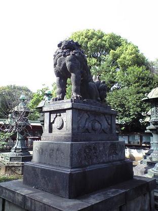 上野東照宮 狛犬あさん