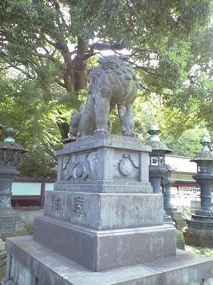 上野東照宮 狛犬うんさん