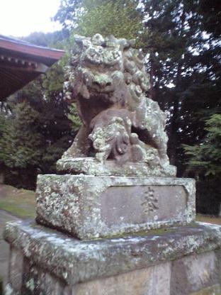 豊玉姫神社 狛犬んさん。
