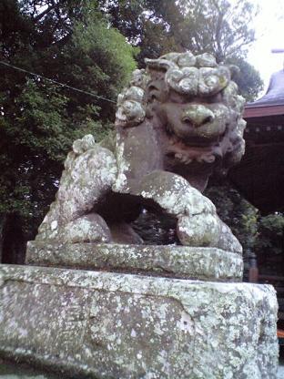 豊玉姫神社 狛犬あさん。