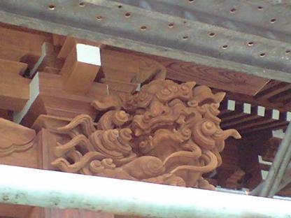 東大社 彫刻