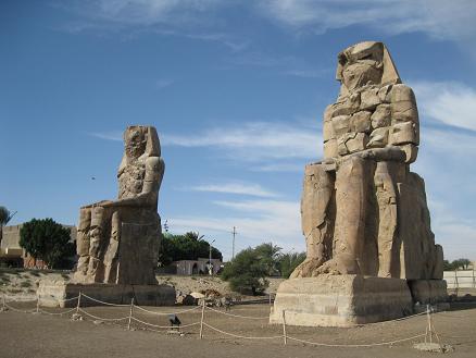 エジプト旅行:メムノンの巨像