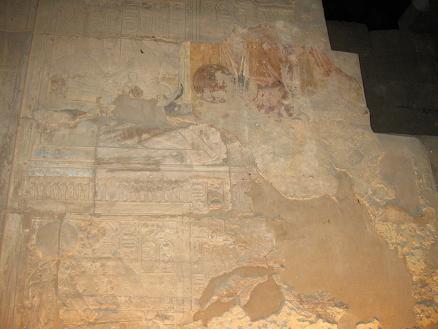 エジプト旅行:ルクソール神殿 レリーフ