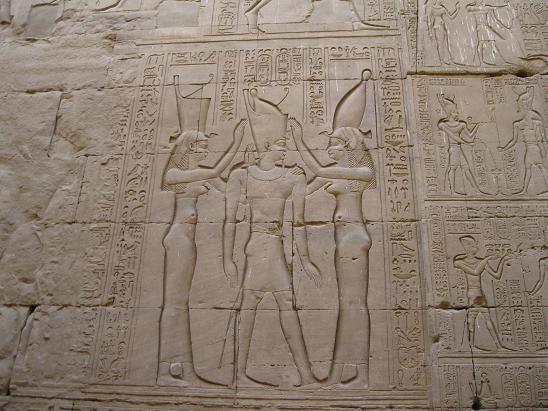エジプト旅行:エドフ(ホルス)神殿 レリーフ