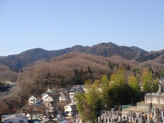 多磨霊園からの眺め縮小版