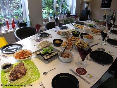 どれも美味しくて、お腹いっぱり頂きました?。 こうやって持ち寄りパーティをすると、新しい食材の利用法やレシピも教えてもらえるので楽しいです♪