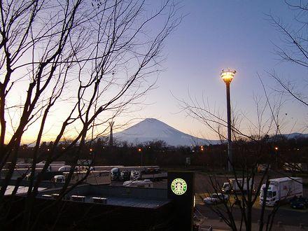 足利SAから見える富士山