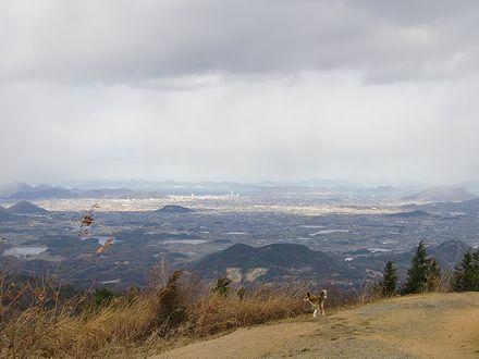 高仙山から高松方面の眺め